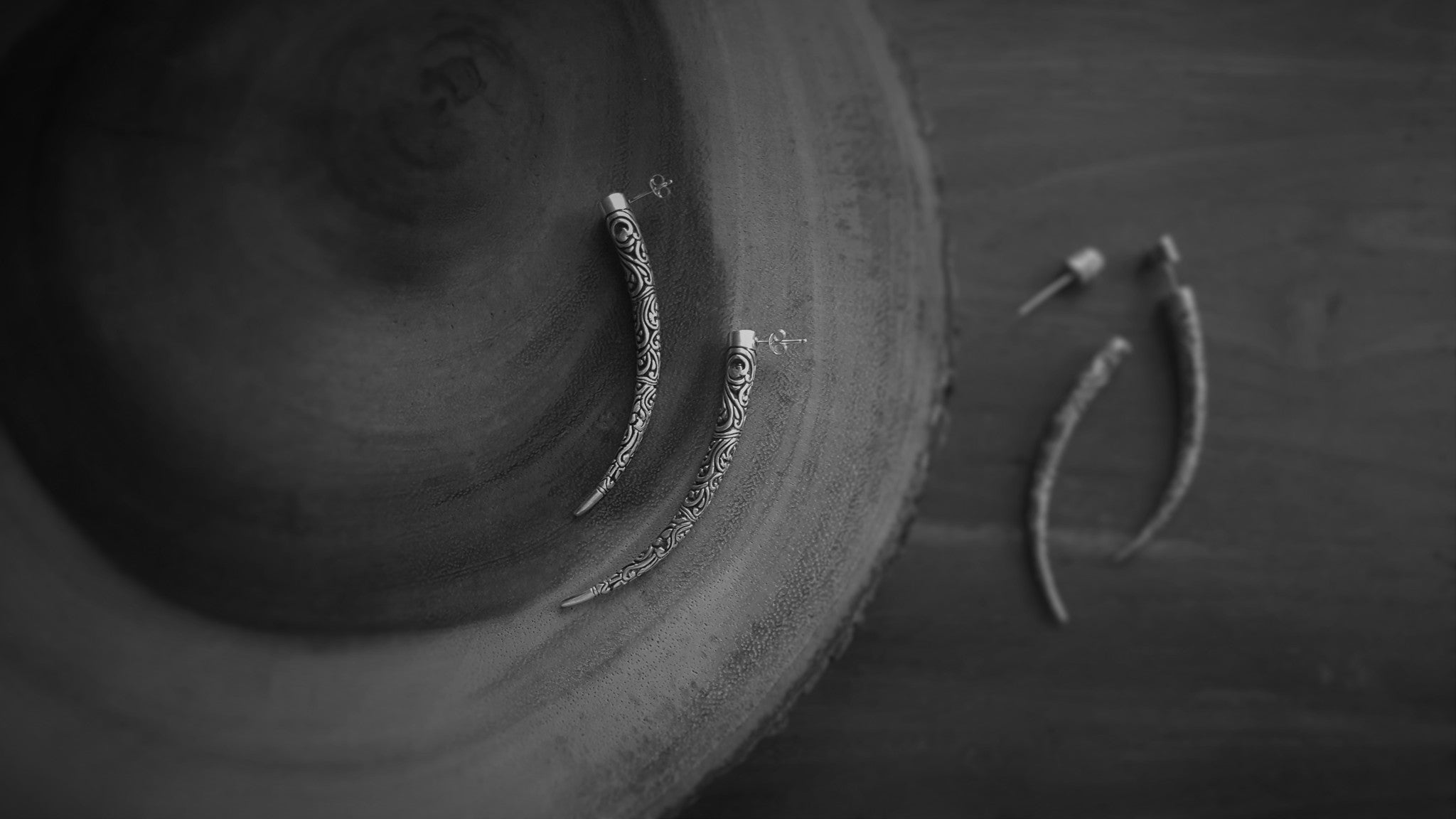 'Taman' Tusk Earrings II