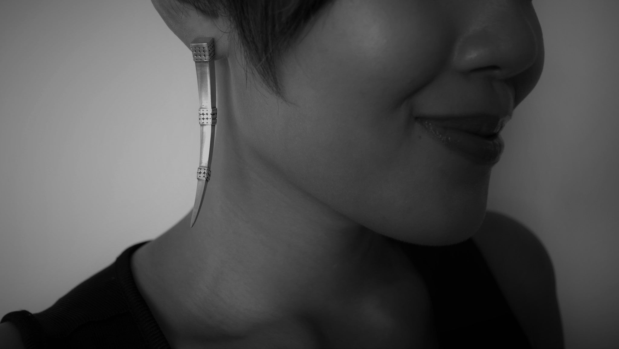'Tirta' Tusk Earrings (BASIC VERSION)
