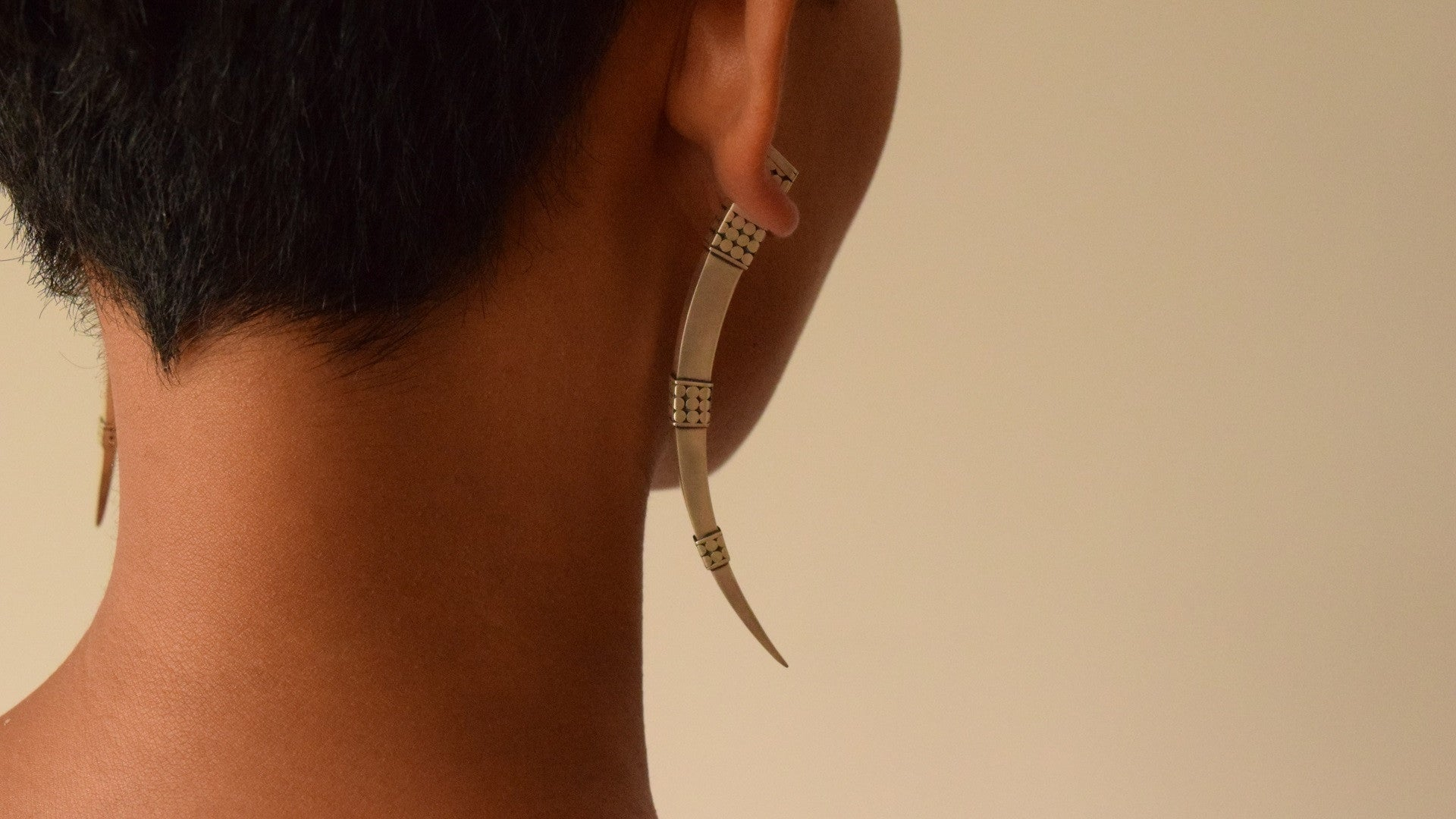 'Tirta' Tusk Earrings (ORIGINAL VERSION)