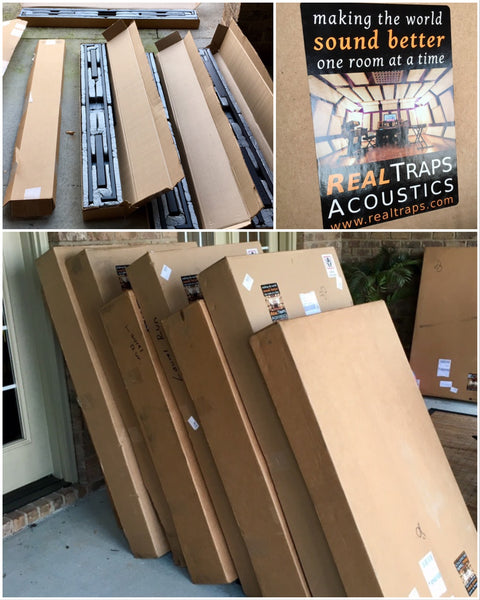 Real Traps Delivery - Pro Audio Boutique Installation