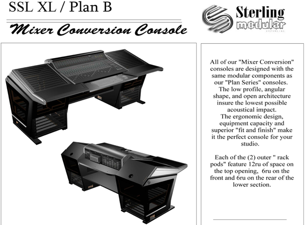 Sterling Modular SSL XL-Desk Plan B Mixer Conversion - Pro Audio Boutique