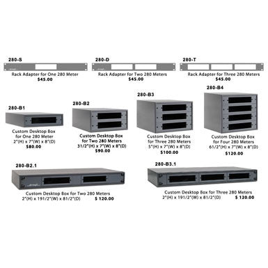 Dorrough 280 Series Rack Adapters / Desktop Boxes
