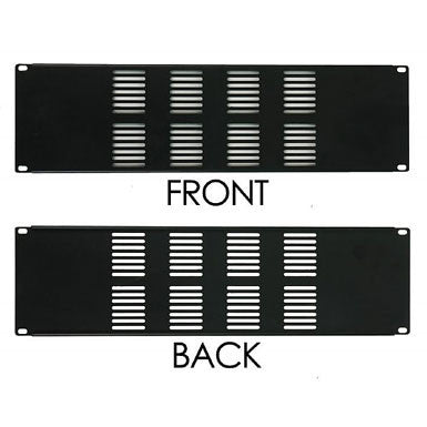 3 Space Vented Rack Panel