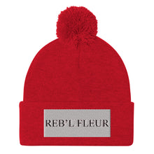 "Load image into Gallery viewer, Reb""l Fleur Pom-Pom Beanie"
