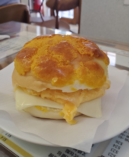 pineapple bun cheung hing coffee shop hong kong
