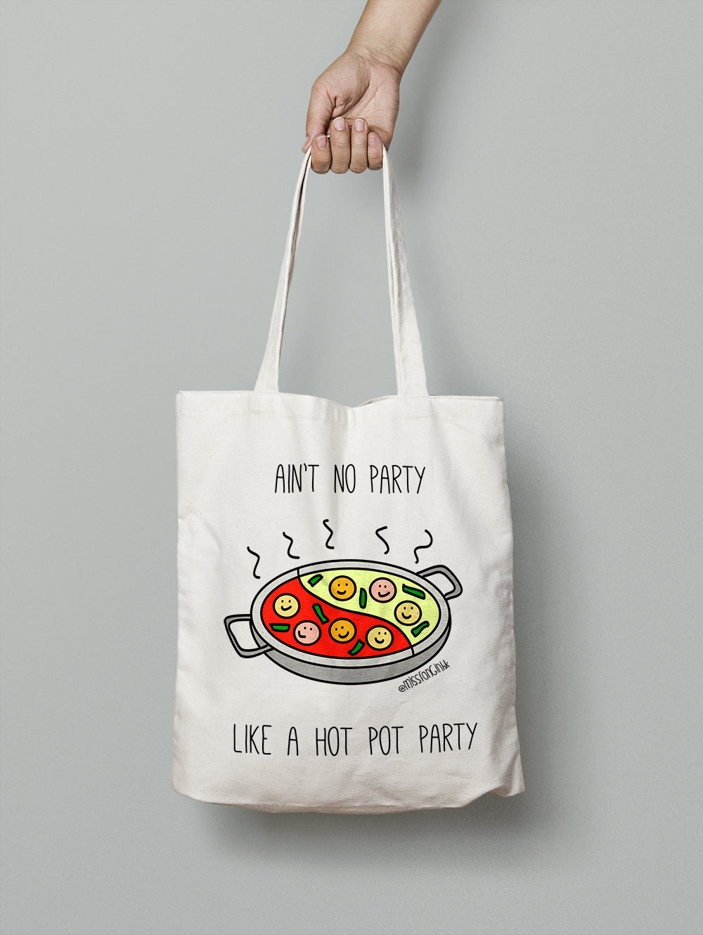 Miss Fong in Hong Kong: Hot Pot Party Cotton Canvas Tote Bag