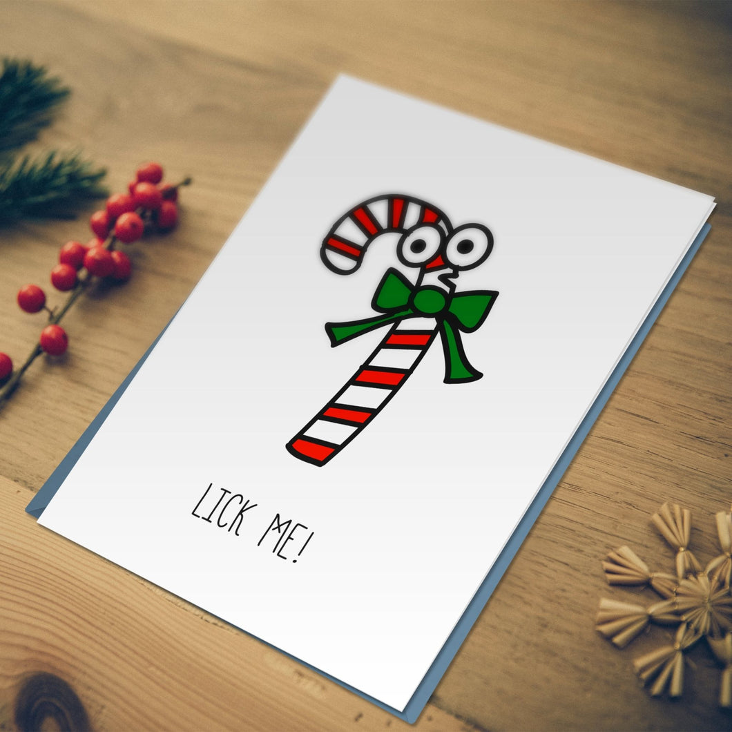 Miss Fong in Hong Kong: Naughty Candy Cane Christmas Card