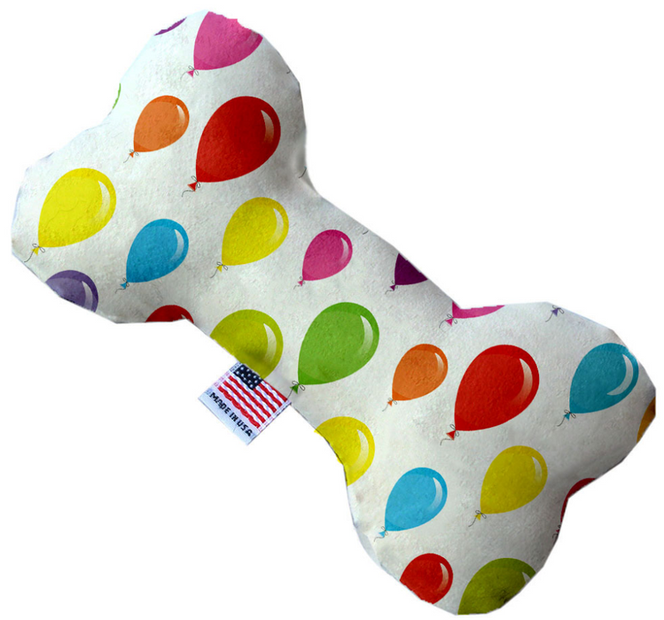 Canvas Bone Dog Toy - Balloons