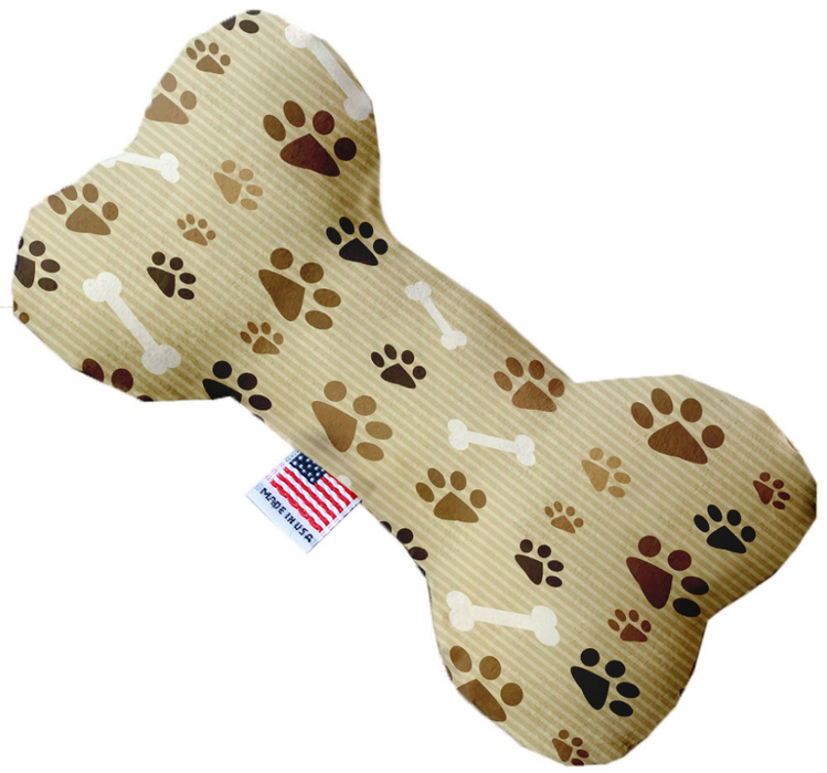 Canvas Bone Dog Toy - Paws and Bones