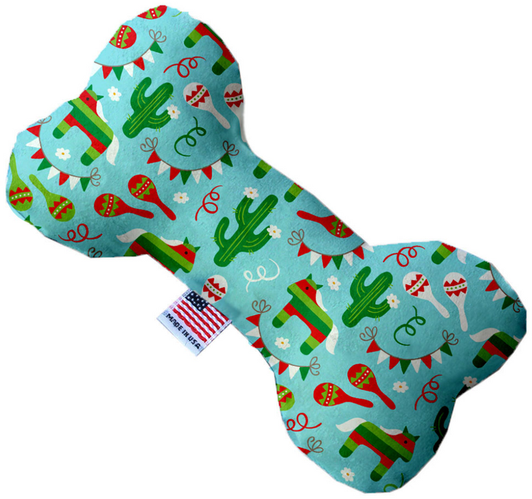 Canvas Bone Dog Toy - Cacti Fiesta