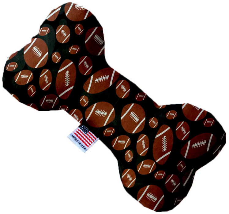 Canvas Bone Dog Toy - Football Frenzy
