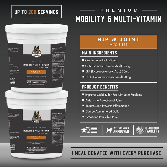 Premium Mobility & Multi - Vitamin Soft Chews Mini Bites 100ct