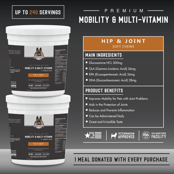 Premium Mobility & Multi - Vitamin Soft Chews 60ct