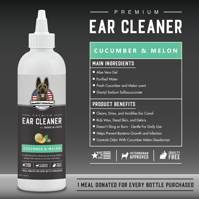 Premium Cucumber & Melon Ear Cleaner with Aloe 8oz