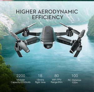 RC Drone with Wifi FPV 1080P 4K HD Dual Camera, Follow Me Mini
