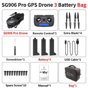 SG906 Pro Drone GPS 4K HD Two-Axis Anti-Shake Stable SD Card