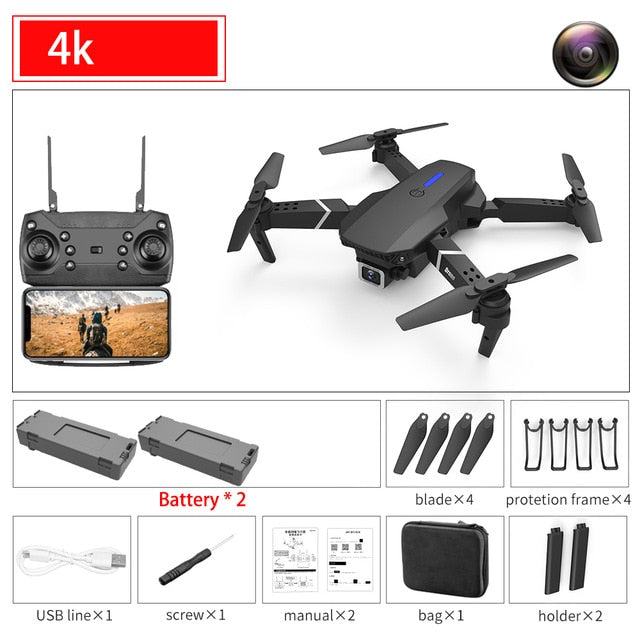 RC Drone with Wide Angle 4K Camera
