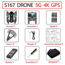 Load image into Gallery viewer, GPS Drone With Camera Quadcopter Drones HD 4K WIFI FPV Foldable