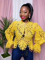 """Spill The Tea"" Blouse (Mustard)"