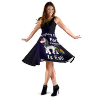 Unicorns are evil dress