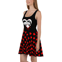 Bleeding Heart Skater Dress