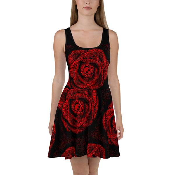 Blood Red Rose Skull Dress