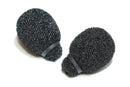 MINIATURE LAVALIER FOAMS BLACK (1 PACK OF 2)