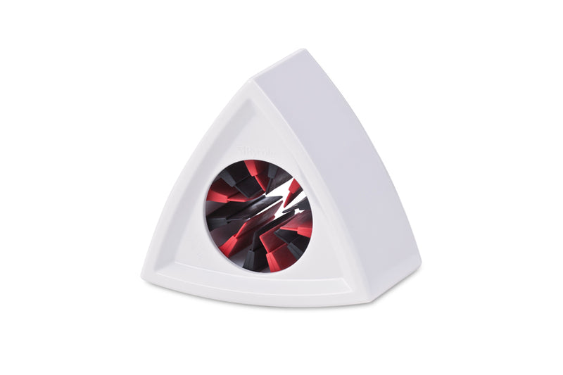 SINGLE TRIANGULAR WHITE MIC FLAG