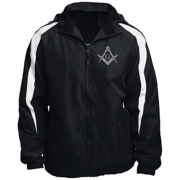 FreeMason Silver S&C  Fleece Lined Colorblocked Hooded Jacket