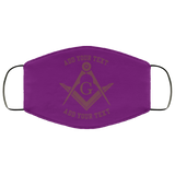 Freemason Face Mask Maroon S&C add your text above and below - Kustom Keepsakes
