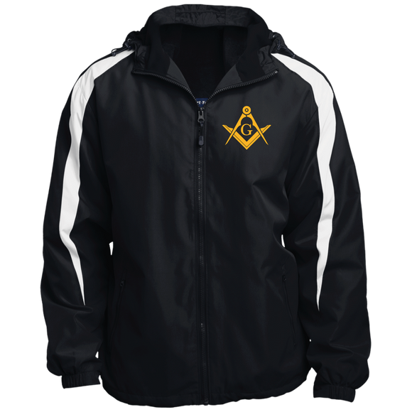 FreeMason Gold S&C  Fleece Lined Colorblocked Hooded Jacket