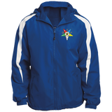 Order of the Eastern Star Fleece Lined Colorblocked Hooded Jacket - Kustom Keepsakes