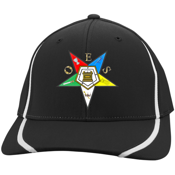 Order of the Eastern Star Flexfit Colorblock Cap - Kustom Keepsakes