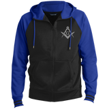 FreeMason Silver S&C Men's Sport-Wick® Full-Zip Hooded Jacket