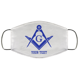 Freemason Custom Face Mask S&C blue - Kustom Keepsakes