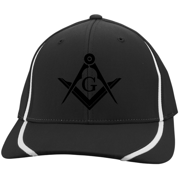 FreeMason black S&C Flexfit Colorblock Cap - Kustom Keepsakes