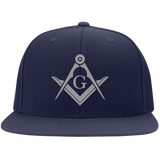 FreeMason Silver S&C Flat Bill High-Profile Snapback Hat