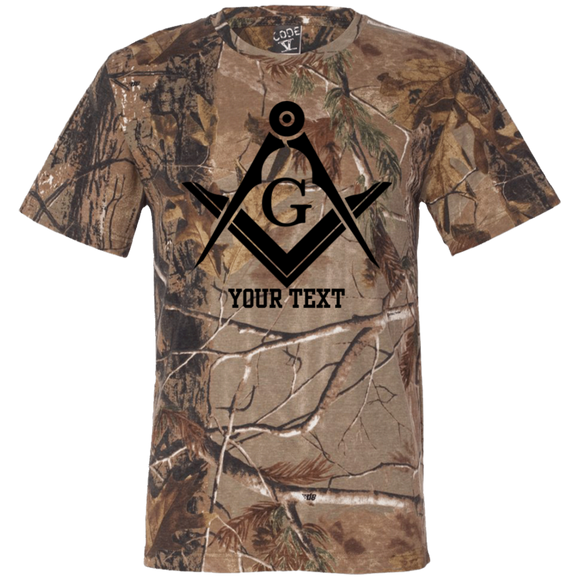 Personalized Black S&C Short Sleeve Camouflage T-Shirt