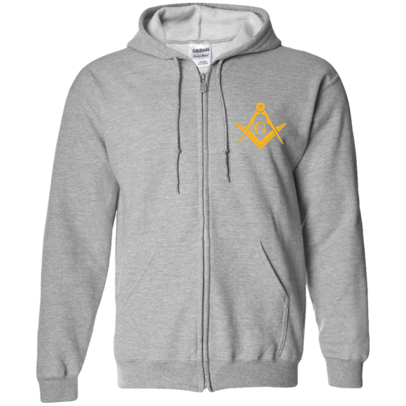 FreeMason Gold S&C  Zip Up Hooded Sweatshirt