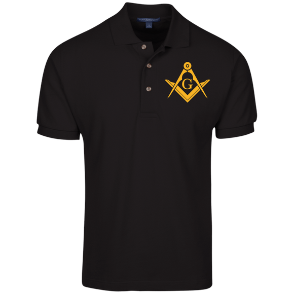 FreeMason Gold S&C  Cotton Pique Knit Polo