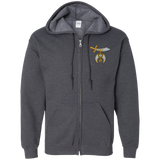 Shriners Zip Up Hooded Sweatshirt - Kustom Keepsakes