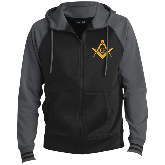 FreeMason Gold S&C Men's Sport-Wick® Full-Zip Hooded Jacket