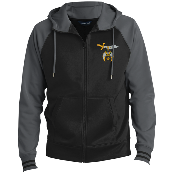 Shriners Men's Sport-Wick® Full-Zip Hooded Jacket - Kustom Keepsakes