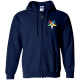 Order of the Eastern Star Zip Up Hooded Sweatshirt - Kustom Keepsakes