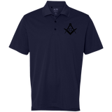 FreeMason black S&C Golf ClimaLite Basic Performance Pique Polo - Kustom Keepsakes