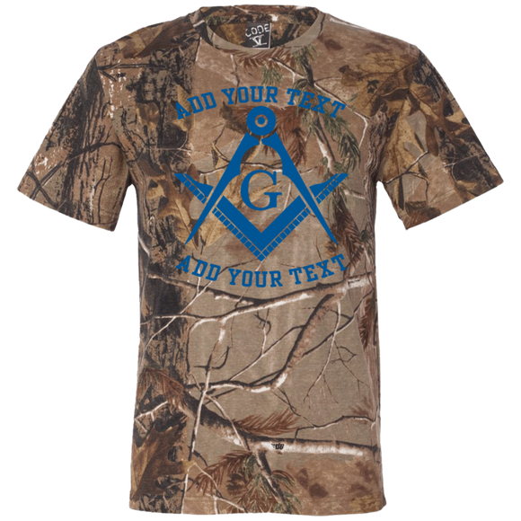 Personalized Blue S&C Short Sleeve Camouflage T-Shirt