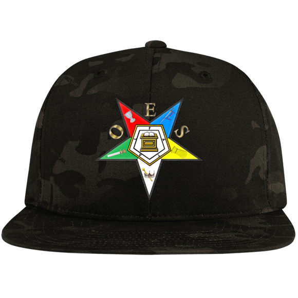 Order of the Eastern Star Flat Bill High-Profile Snapback Hat - Kustom Keepsakes