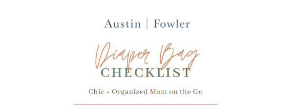 diaper bag packing checklist