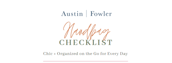 handbag purse packing checklist