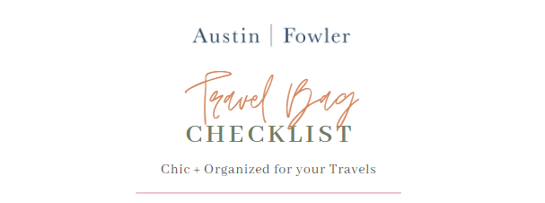 travel bag packing checklist